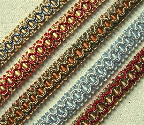 Upholstery Braid And Trimmings braid gimp trim 17mm wide 1 metre upholstery craft edging