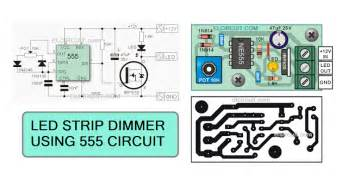led len dimmbar led strips dimmer with 555 circuit electronic circuit