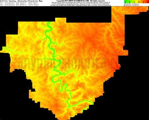 kentucky elevation map free bullitt county kentucky topo maps elevations