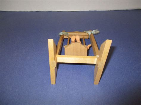 vintage wooden swing vintage wooden doll swing with baby from