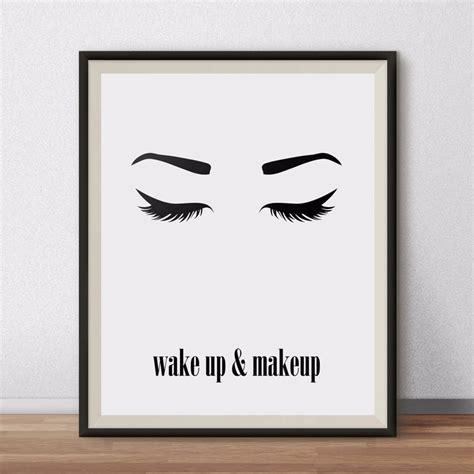 minimalist printable wall art aliexpress com buy wake up and makeup wall art