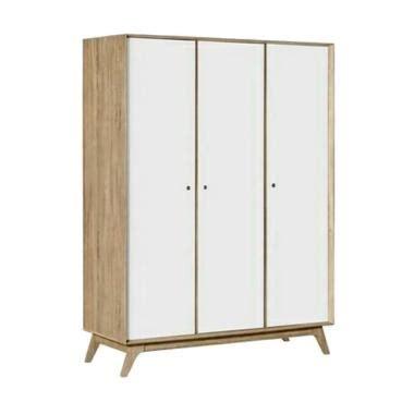 Lemari Pakaian Cowok jual daily deals creova lemari pakaian putih 3 pintu