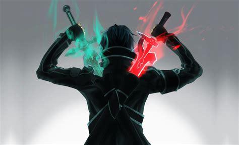 anime online sword art online kirito anime manga fanart giant wall