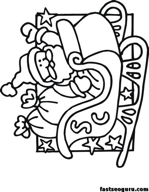coloring pages of santa sleigh free coloring pages of sleigh ride