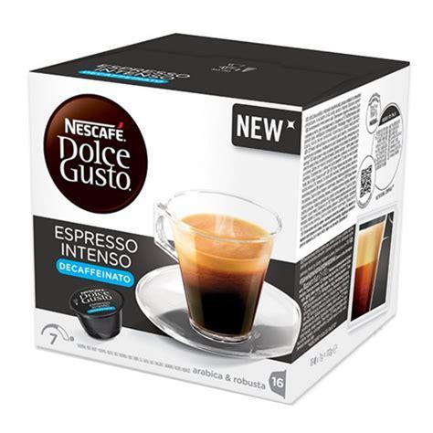 Nescafe Dolce Gusto Capsule Espresso Intenso 16s 16 capsule nescafe dolce gusto espresso intenso decaffeinato