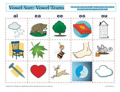 Vowel Team Worksheets by Vowel Sort Vowel Teams Printable Vowel Worksheeets