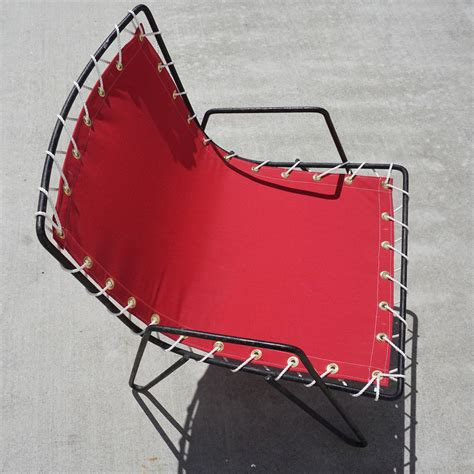 Canvas Sling Chair by 1950s Iron And Canvas Outdoor Sling Chairs At 1stdibs