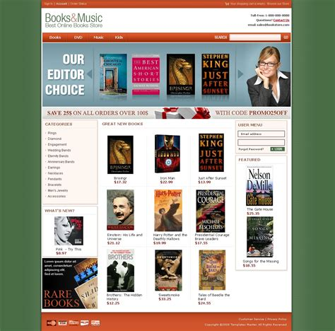 Book Store Magento Template Templates Master Bookstore Website Template