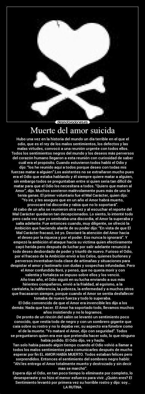 imagenes suicidas amor muerte del amor suicida desmotivaciones