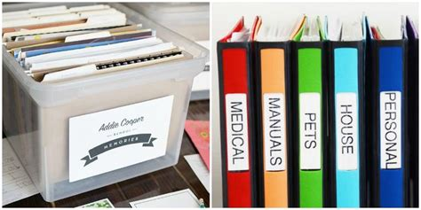 best way to files 8 ways to organize all of your most important paperwork