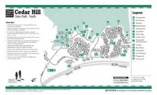 cedar hill state park northside facility map cedar