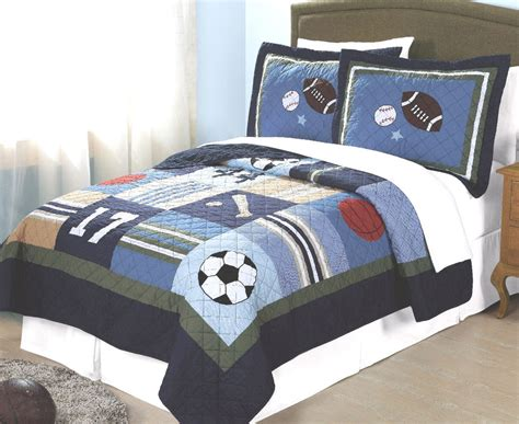 Boys All State Twin Single Quilt Bed Set Teen Sports Boys Bedding