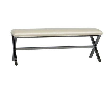 metal bed bench elegant contemporary metal x base bed bench for sale at