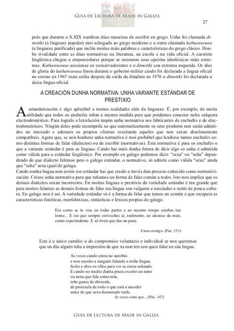 gua de lectura de gu 237 a de lectura de quot made in galiza quot por xos 233 mar 237 a moreno villar