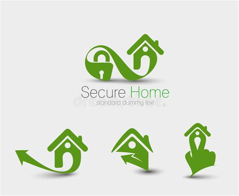 home security logo set stock vector illustration of