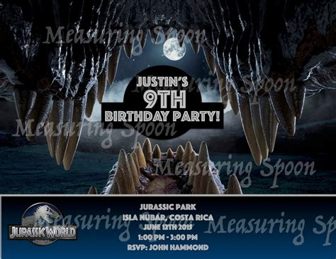 printable jurassic world birthday invitations jurassic world birthday invitations