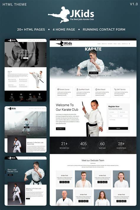 Jkids Judo Karate And Martial Art Html Website Template 67934 Karate Website Template