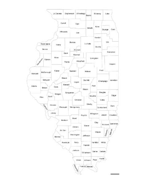 counties map with names illinois county map with county names free