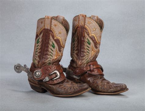 boot spurs roy rogers eagle boots and bohlin spurs western cowboy