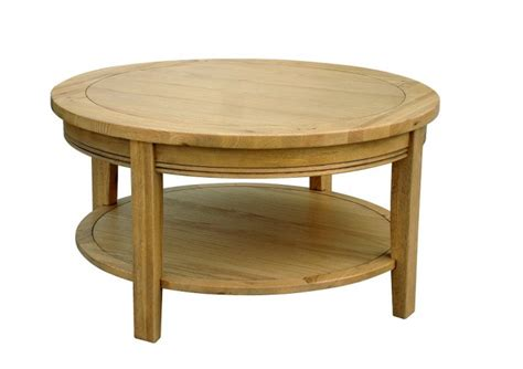 small round oak end table