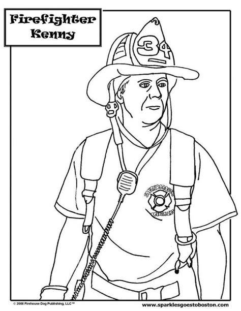 fireman coloring pages for kids coloring home