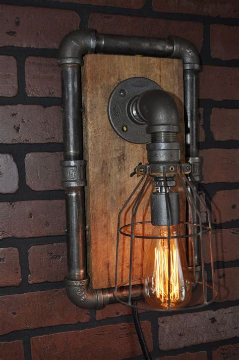 Steampunk Sconce Industrial Machine Age Steampunk Wall Sconce Lamp