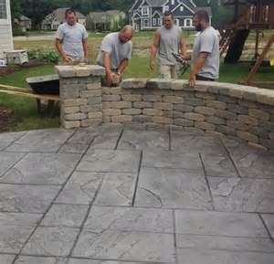 How Much Is A Stamped Concrete Patio A New Stamped Concrete Patio Amp Garden Wall Custom