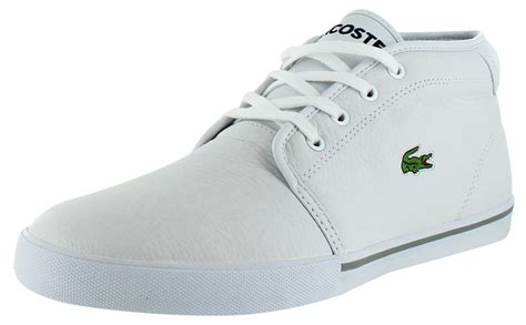 mens lacoste sneakers lacoste thill lcr s mid sneakers shoes leather ebay