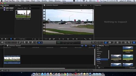 final cut pro letterbox final cut pro x widescreen letterbox tutorial youtube