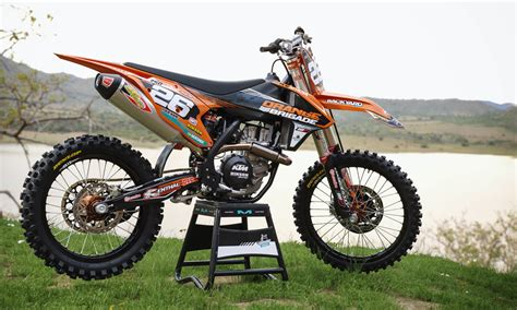 motocross dekor our 2018 replica graphics on the new 2018 ktm sx f 450