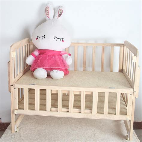 Solid Wood Baby Bed Multifunctional Baby Crib Newborn Baby Rolling In Crib