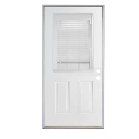 Vented Exterior Doors Shop Reliabilt Insulating Vented Glass With Screen Right Inswing Steel Primed