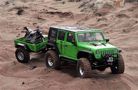 Axial Jeep Remolque Con Moto Axial Scx10 Jeep Wrangler Rubicon