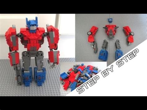 tutorial lego transformers how to build lego optimus prime tutorial fall of