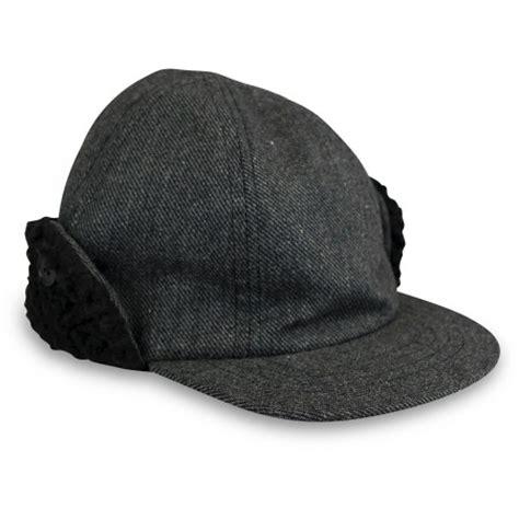 baby boys herringbone baseball cap with ear flaps