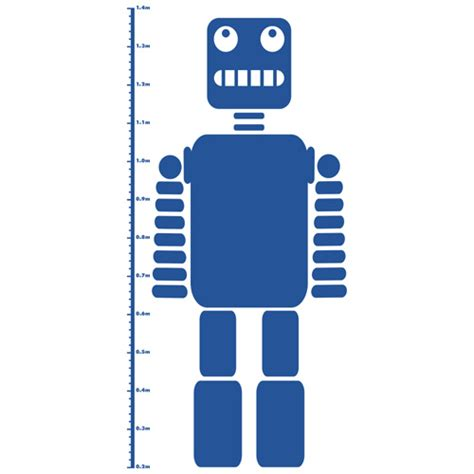 height chart wall stickers robot height chart wall sticker spin collective uk