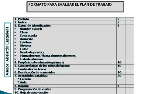 general layout en français licenciatura en educaci 243 n formato para evaluar el plan de