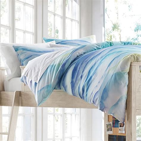 watercolor bedding watercolor chevron comforter sham pbteen