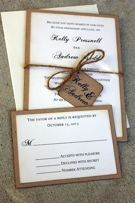 Handmade Invitation Ideas - 20 rustic wedding invitations ideas rustic wedding