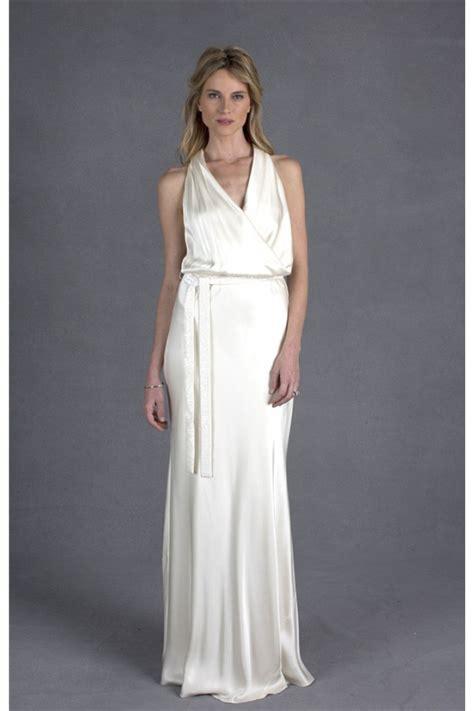 informal sheath halter ivory casual wedding dress