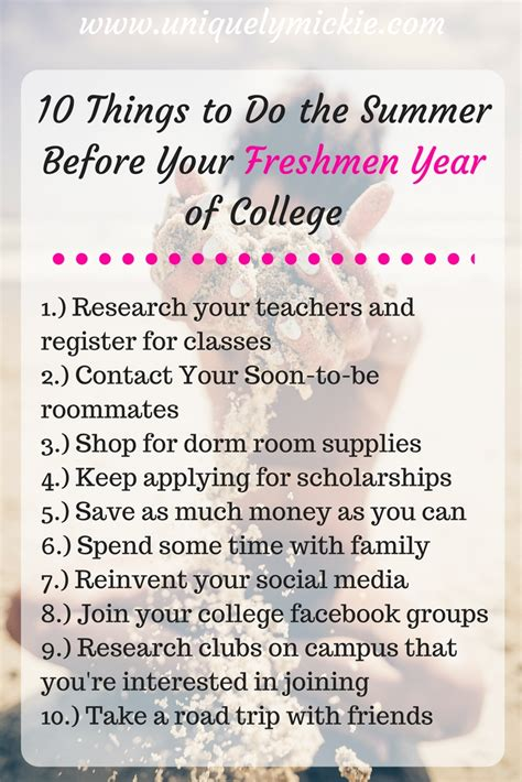 10 Things I Enjoy Doing During The Summer by 10 Things To Do During The Summer Before Your Freshmen