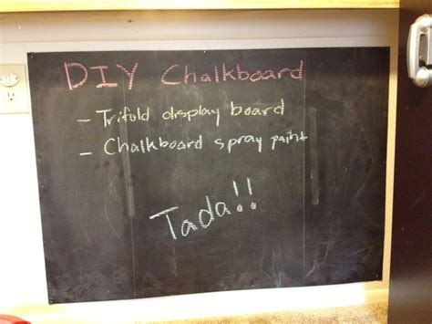 diy chalkboard poster diy chalkboard trifold display board or any size poster