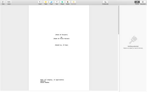 screenplay template for apple pages screenplay template thumbnail on the script screenplay