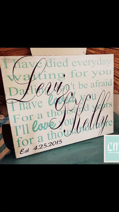 Wedding Anniversary Songs For Couples by Custom Song Wedding Song Lyric Wood Sign