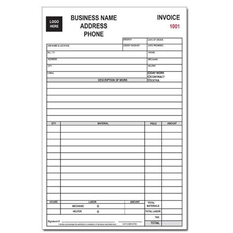 sales receipt template for appliance store appliance repair form designsnprint