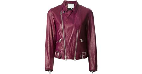 Parka Pink Mc T1310 lyst 3 1 phillip lim sculpted motorcycle jacket in pink
