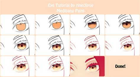 eye colour tutorial using medibang by rineclipses on