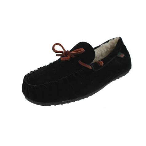 bass moccasin slippers g h bass co 1385 mens suede indoor outdoor moccasin