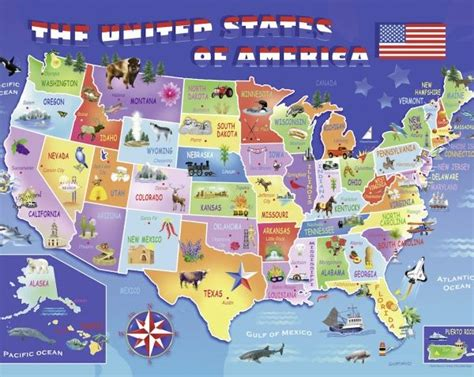 usa map jigsaw level one jigsaw puzzle by ravensburger at puzzle palace australia
