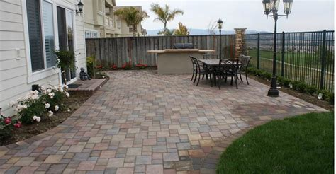 Concrete Paver Patio Designs Triyae Cement Backyard Design Various Design Inspiration For Backyard